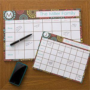 Personalized Desk Pad Calendars Simply Organized Office Gifts Desk Calendar Pad Personalized Desk Calendar Pad