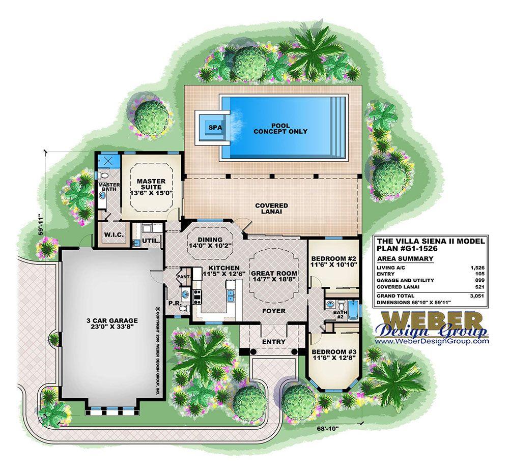 Villa Site Plan Design: Mediterranean House Plan: Luxury Waterfront Home Floor
