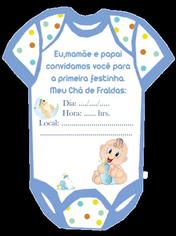 Modelos De Convites Para Chá De Fraldas Sem Nomes Baby Shower
