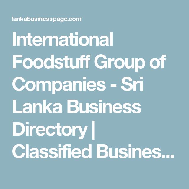 International Foodstuff Group of Companies - Sri Lanka