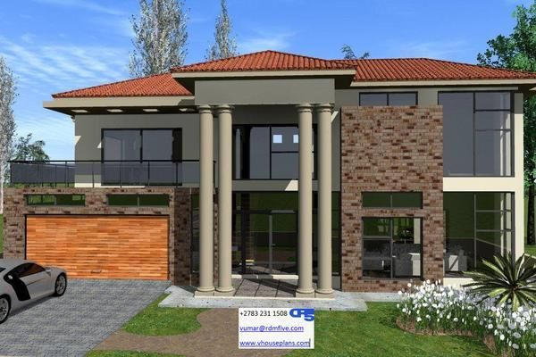 A Aaaahouse Plan No W2238 Beautiful House Plans Double Storey House Modern Style House Plans