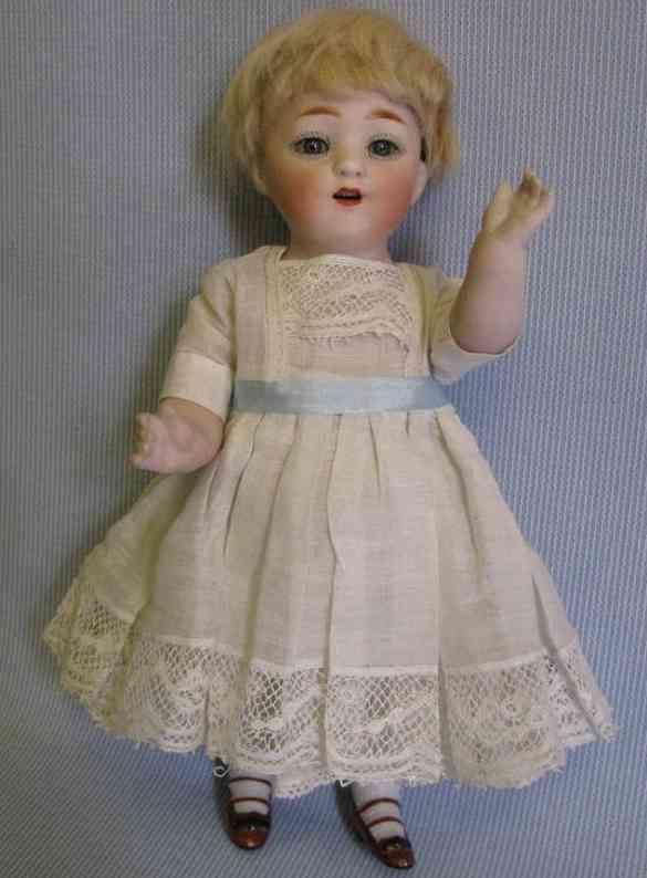 Kestner J. D. Dolls Bisque doll with original blue glass sleep eyes a