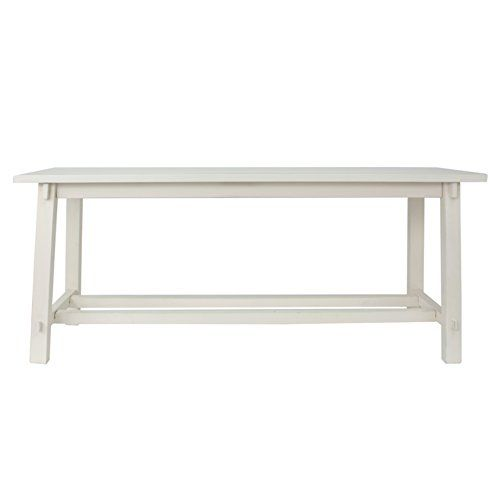 Decor Therapy Fr1592 Kyoto Wooden Bench White Finish Decor