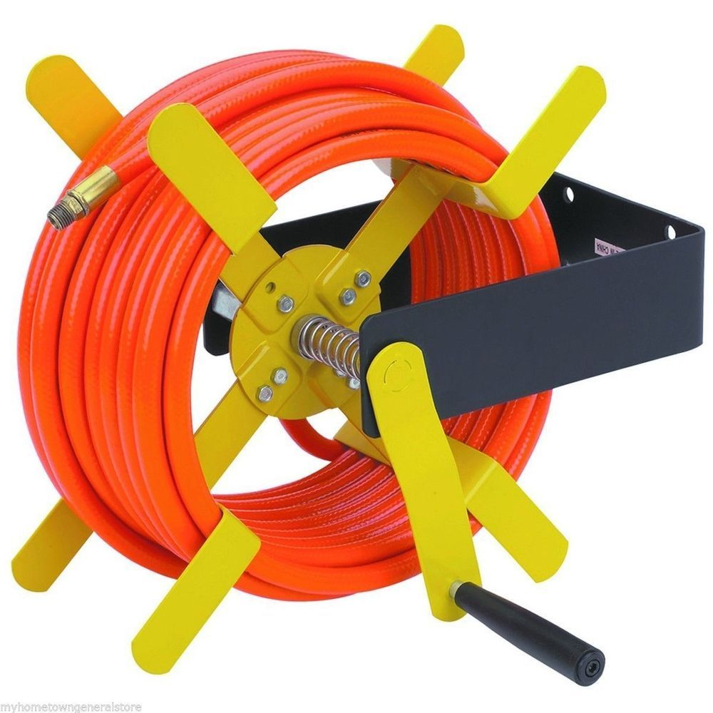 100 Ft. Open Side Steel Air Hose Reel  NEW IN BOX  - Ships from USA via FEDEX