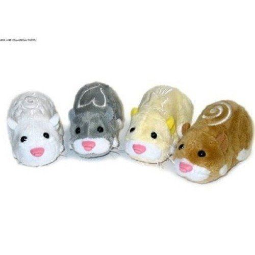 Topcare Zhu Zhu Pets Set of 4 Hamster Toys Squiggles, Num