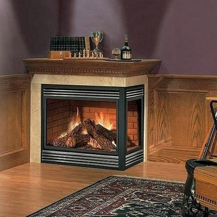 Modern Corner Two Sided Electric Fireplace Corner Electric