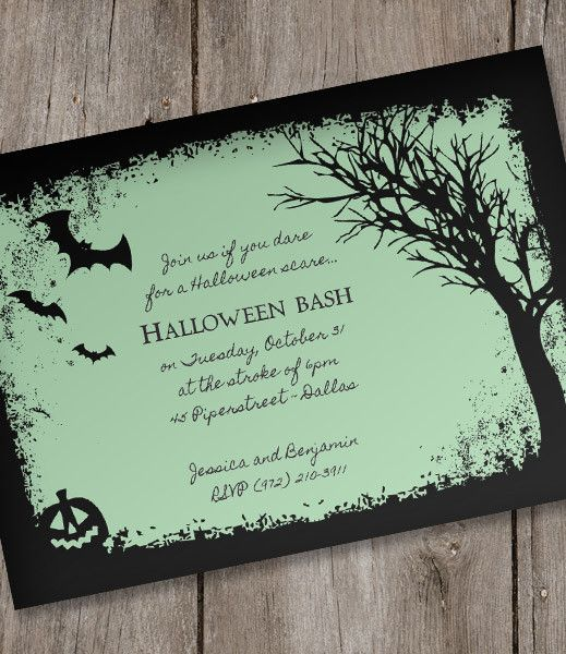 Halloween Invitation Template  Spooky Woods From
