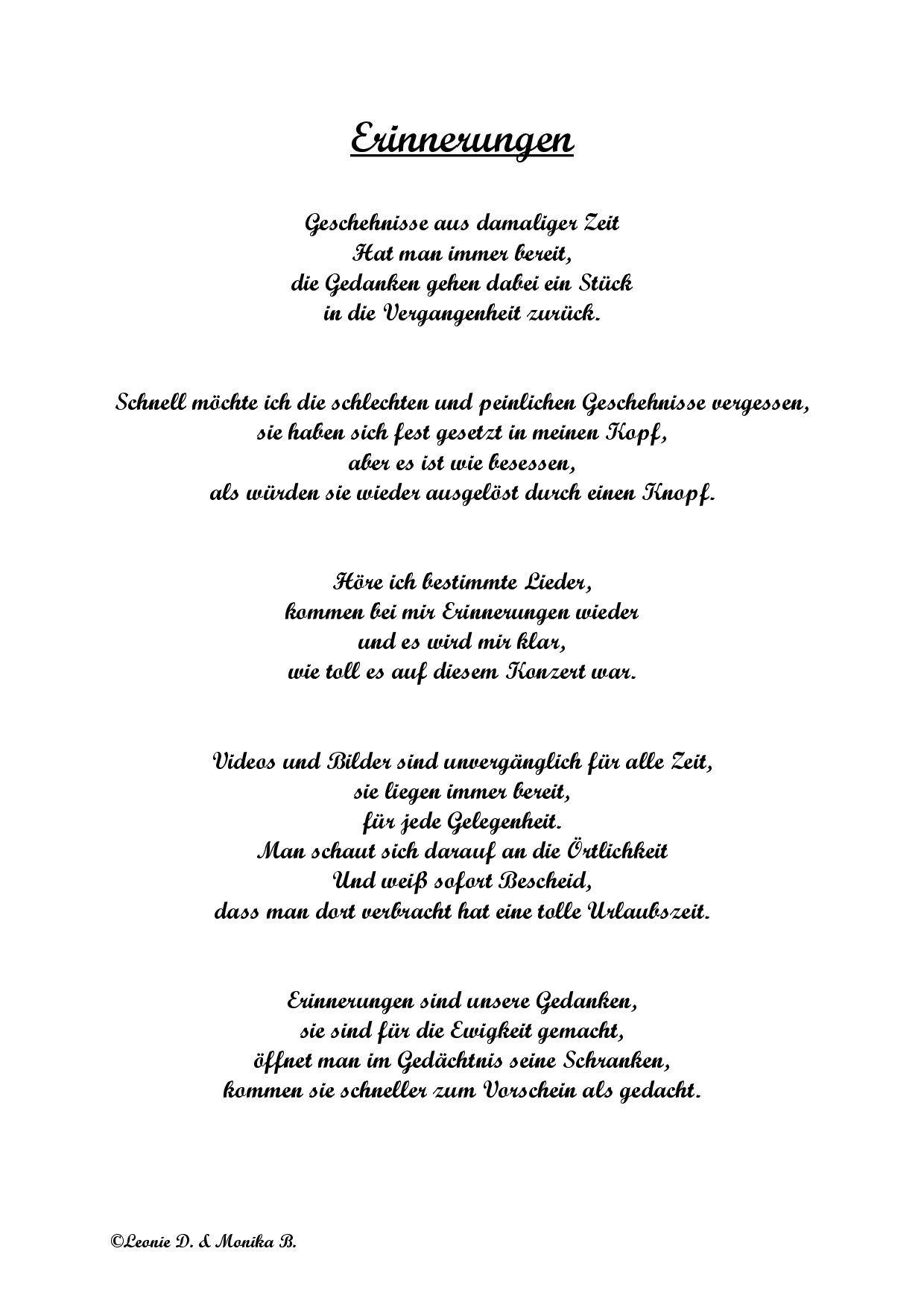 Ein Gedicht Welches Meine Oma Und Ich Selbst Geschrieben