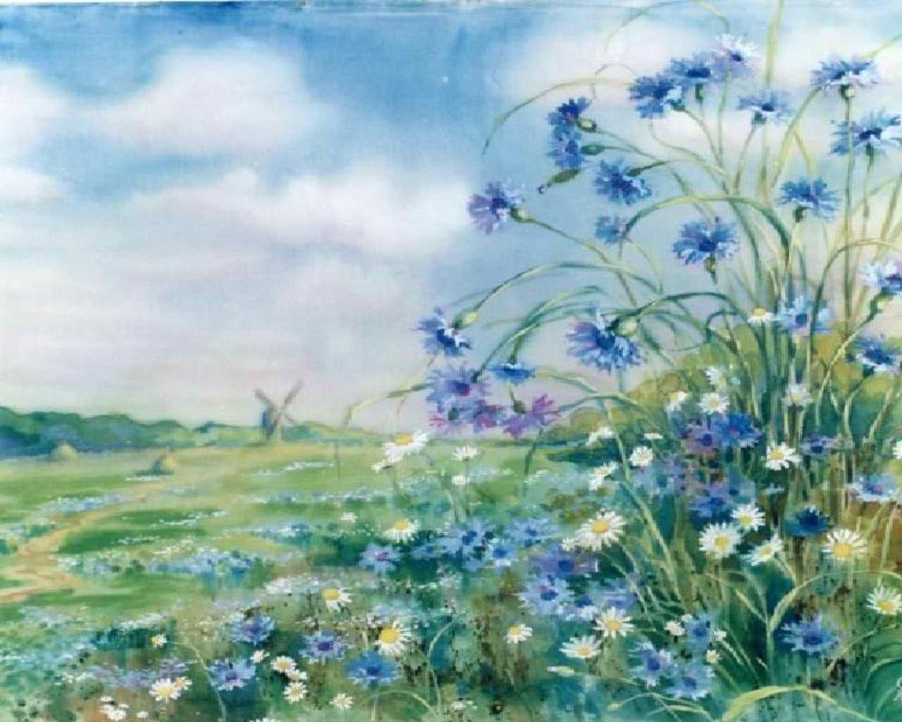 flowers   blue flowers - cynthia-selahblue (cynti19) Wallpaper (30569034 ...