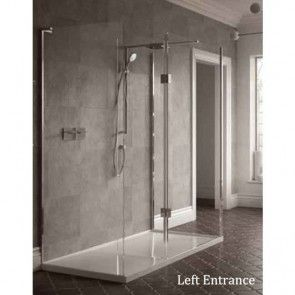 Matki Boutique Walk In Three Sided Shower Enclosure With Hinged