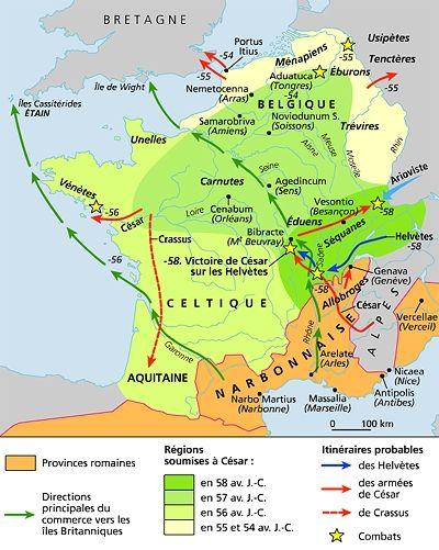 Encyclopedie Larousse En Ligne Gaule En Latin Gallia Carte De La Gaule Carte De France Histoire Ancienne