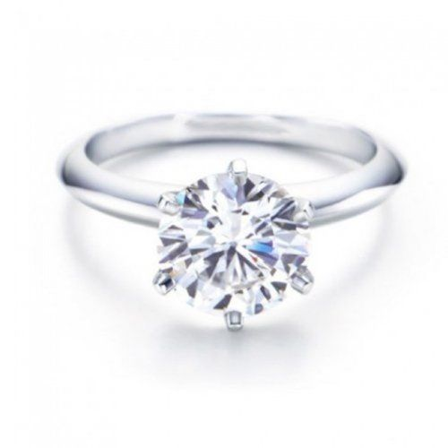 1 Carat GIA Certified Round Cut 6 Prong Solitaire Diamond Engagement Ring  (I Color SI2