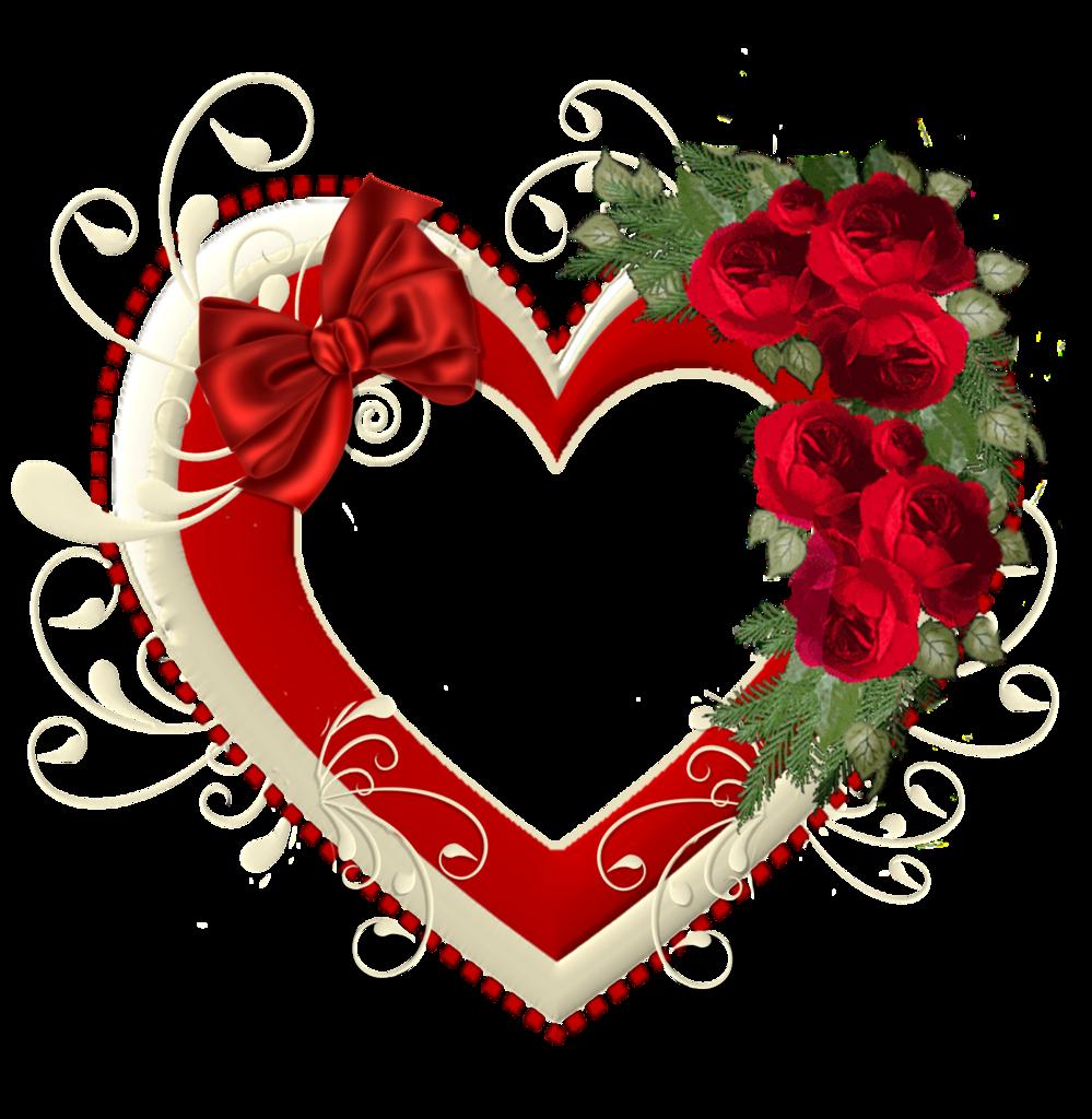 Открытки в виде сердечек