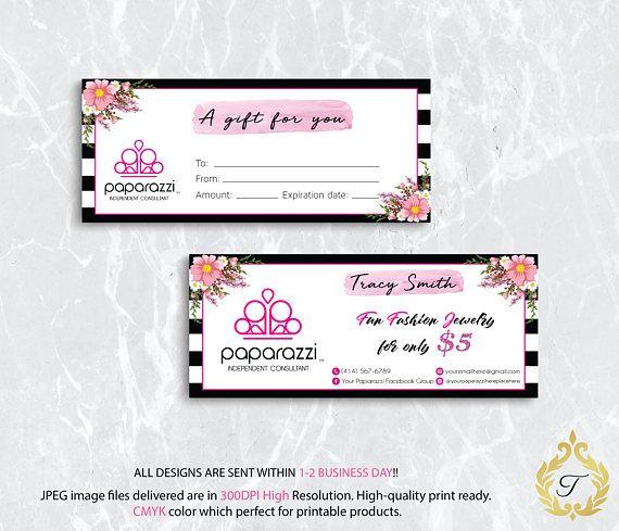 Paparazzi Gift Certificate Card Paparazzi Gift Card Paparazzi Gifts Gift Certificates Gifts
