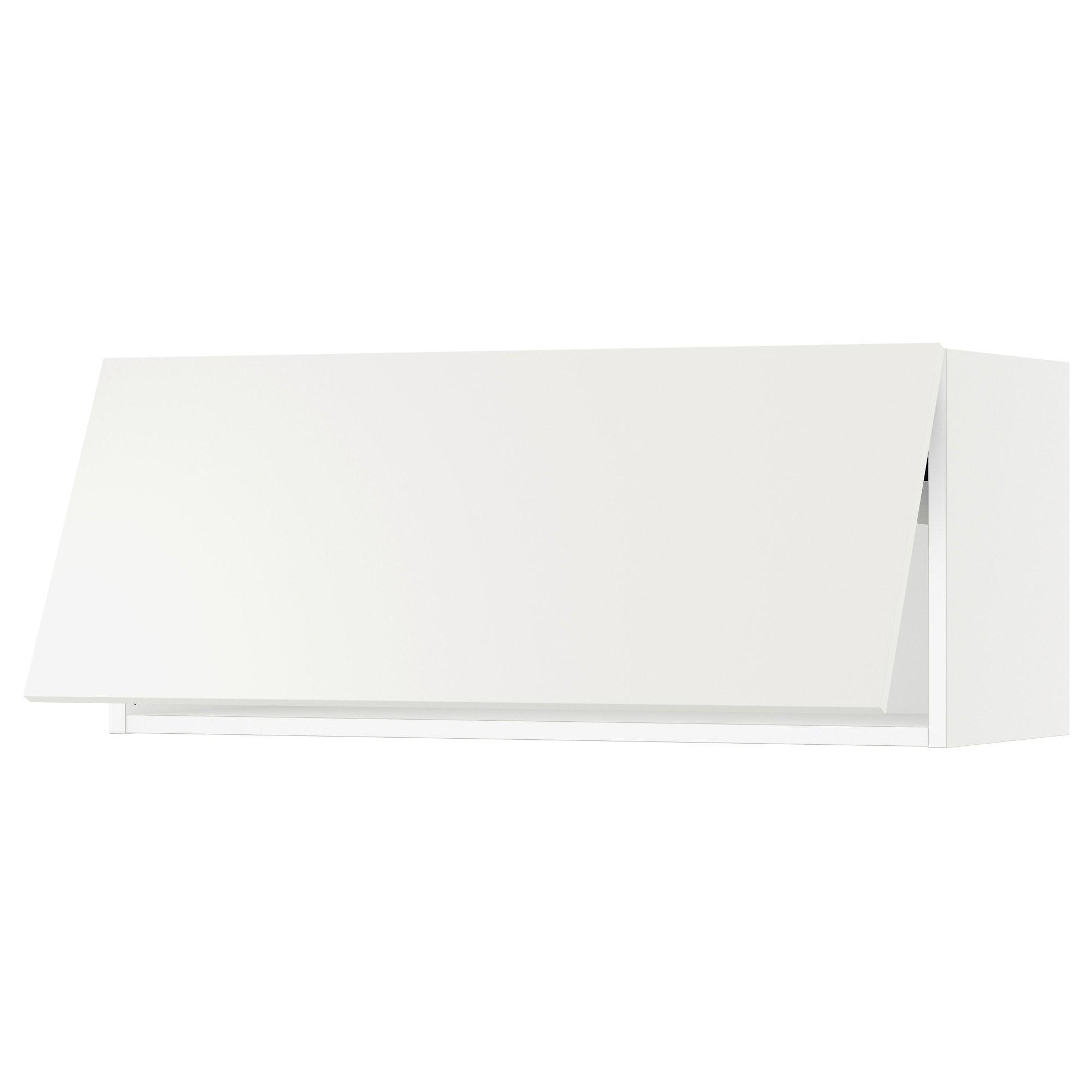 Sektion Wall Cabinet Horizontal W Push Op White Haggeby White Ikea Wall Cabinet Ikea Wall