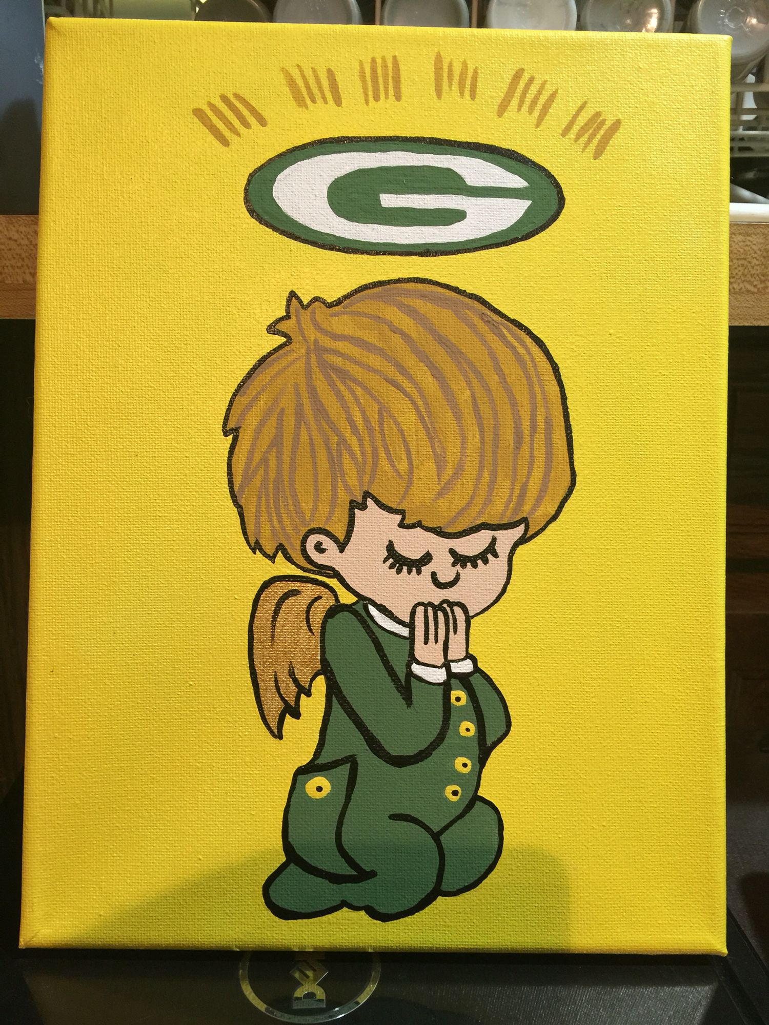Praying Packer Angel Green Bay Packers Green Bay Packers