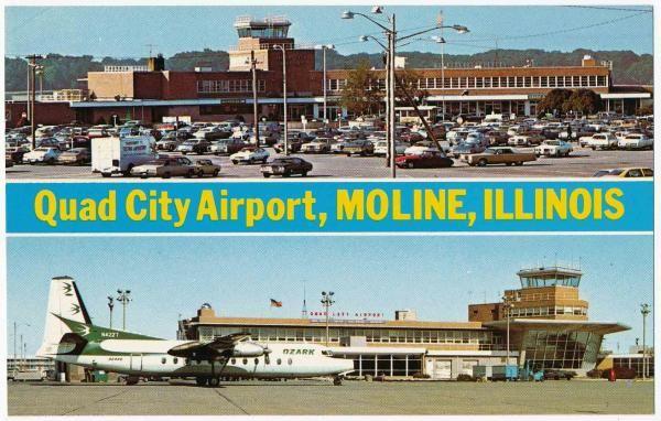 Vintage Picture Of Quad City Airport Moline Illinois Ebay Airport City Quad Cities Moline