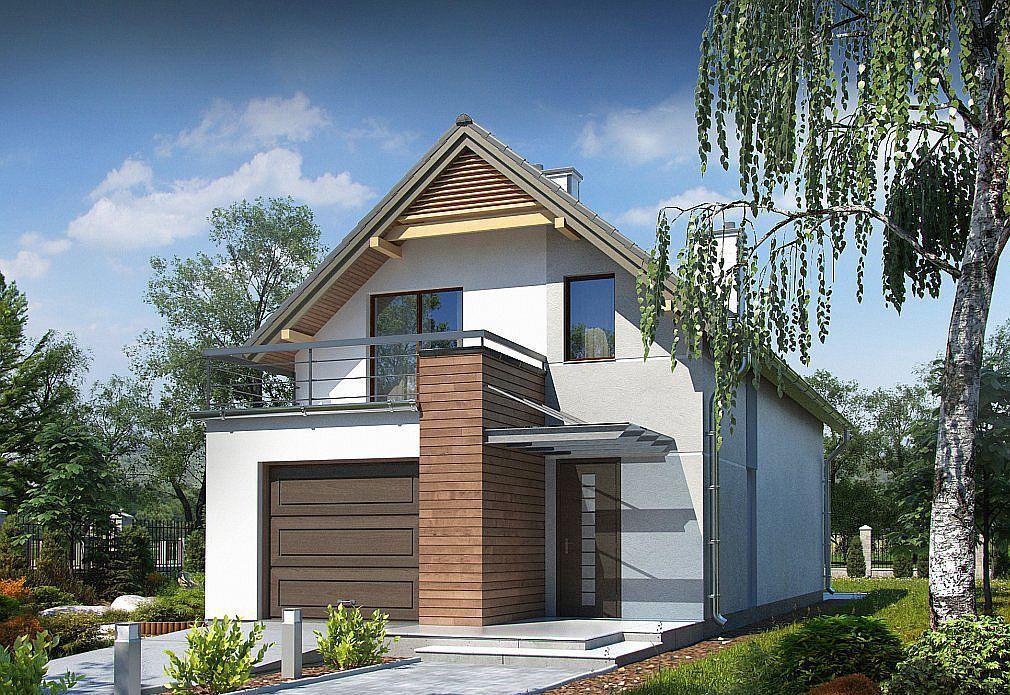 Trei proiecte de case mici cu garaj si mansarda model for Arhitectura case cu mansarda
