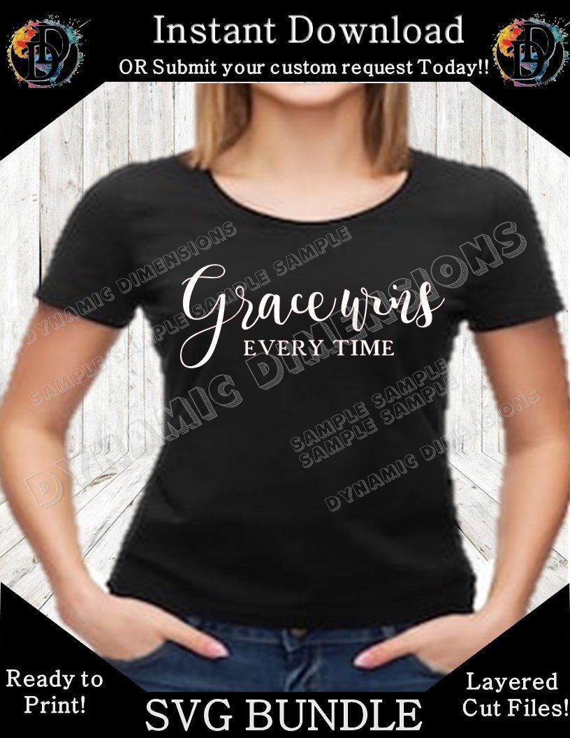 7000f06b Excited to share this item from my #etsy shop: Grace Wins Everytime svg,  files, svg design, DXF, thankful, thanksgiving, Christian, Religion,  Christ, Jesus, ...