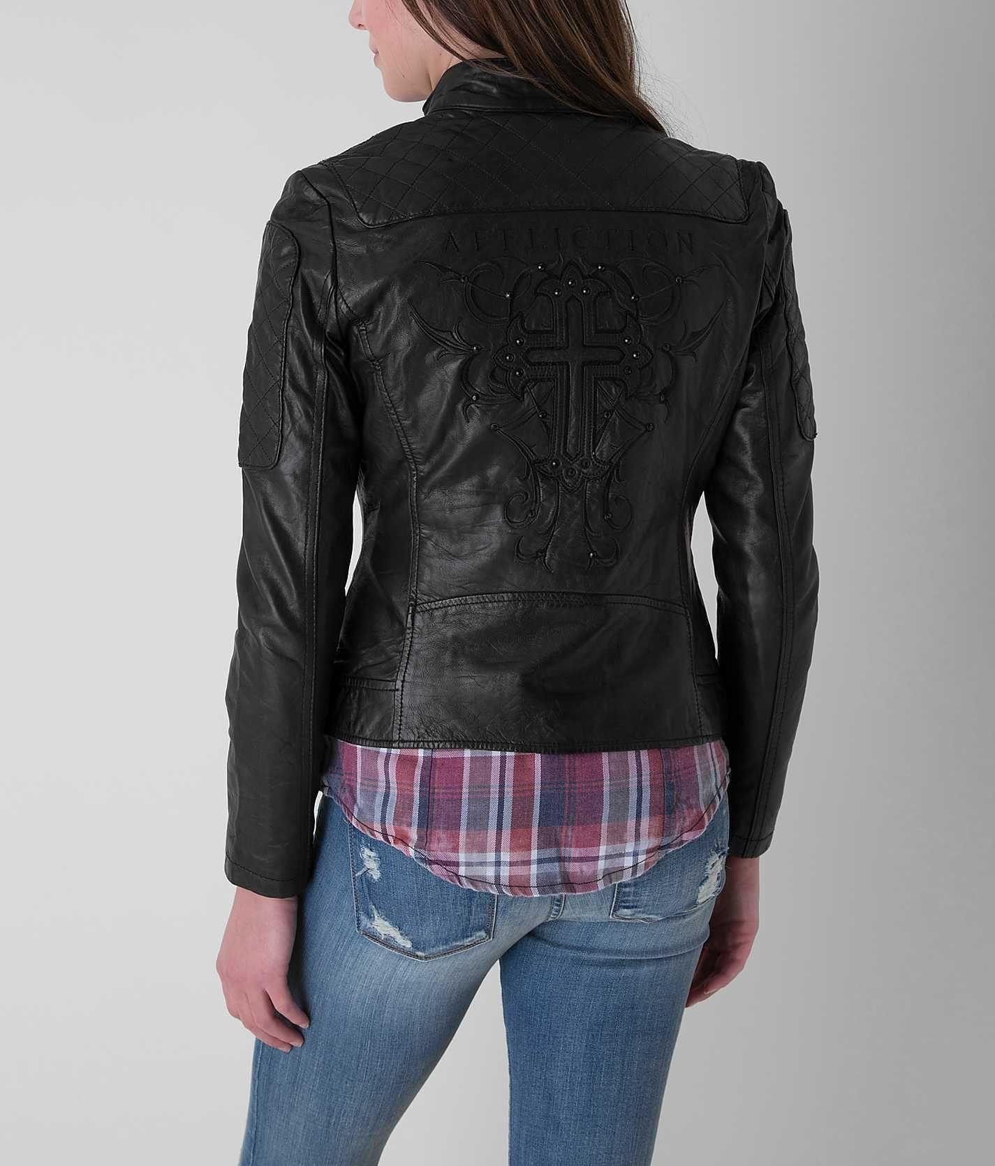 Affliction Black Premium Alexis Jacket Women's Coats