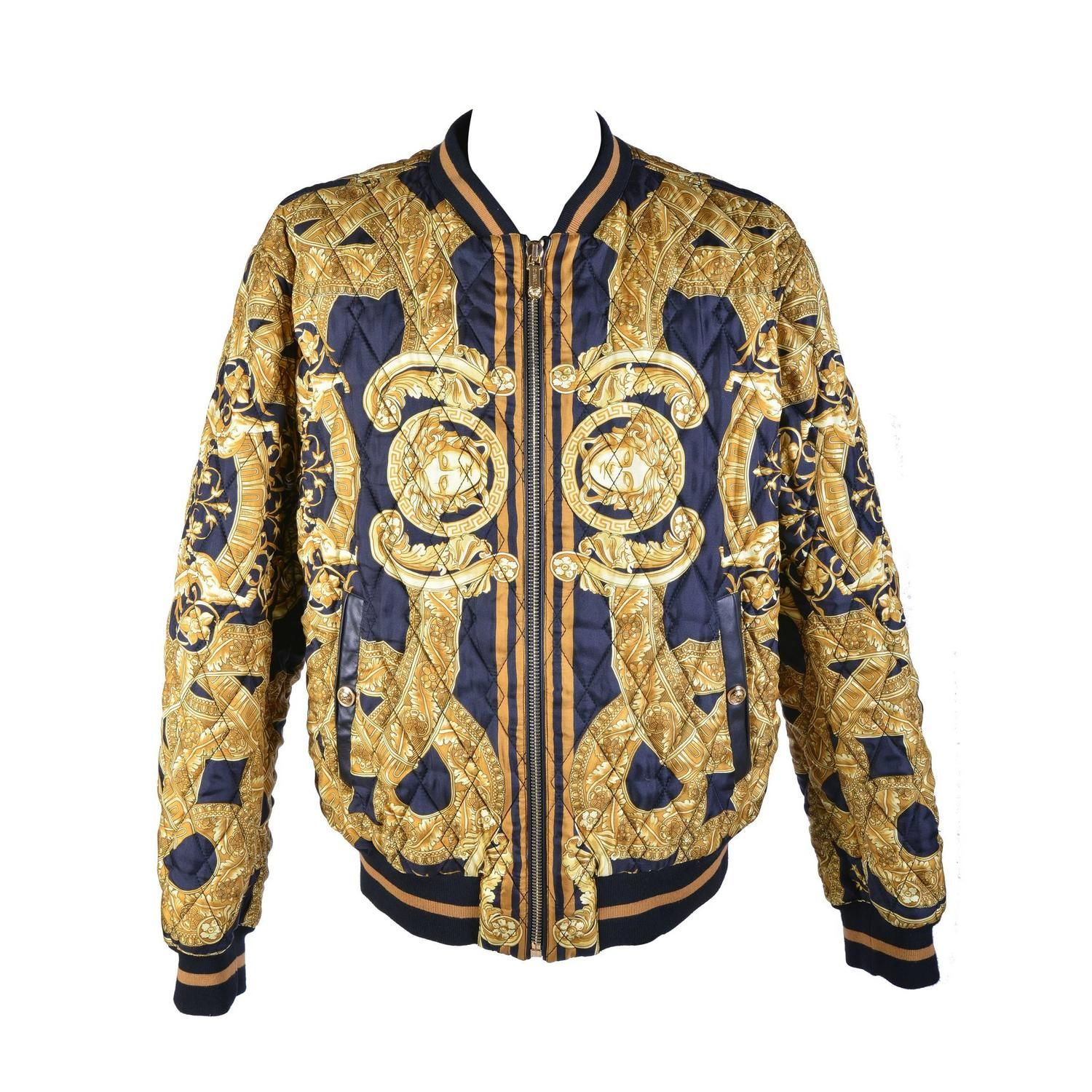 35th Anniversary Versace Quilted Silk Bomber Jacket Silk Bomber Jacket Silk Bomber Bomber Jacket