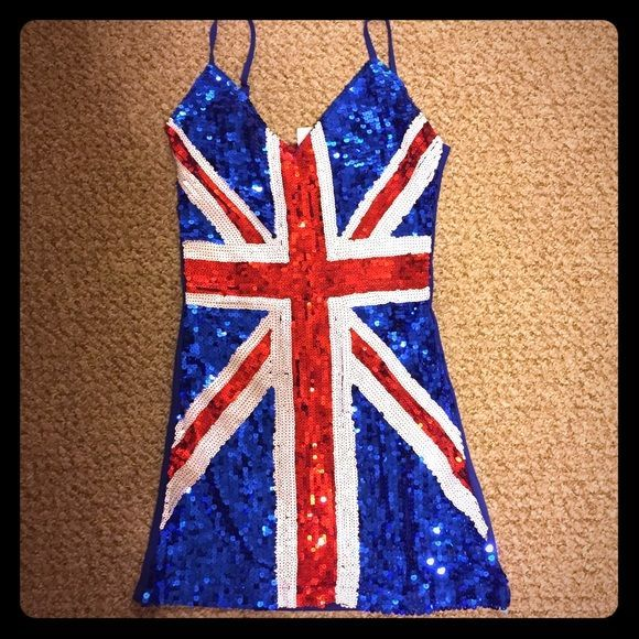 Ladies Union Jack Fancy Dress Costume Ginger Spice Girls ...  Ginger Spice British Dress