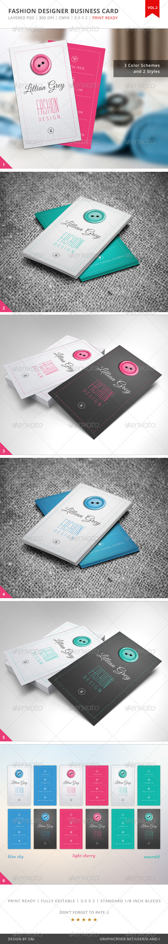 Fashion Designer Business Card - Vol.2 | Print templates, Business ...