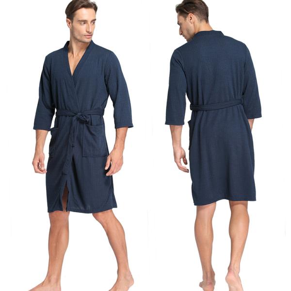 Super Peignoir de bain homme automne bleu navy | Mode Homme vêtements d  IZ27