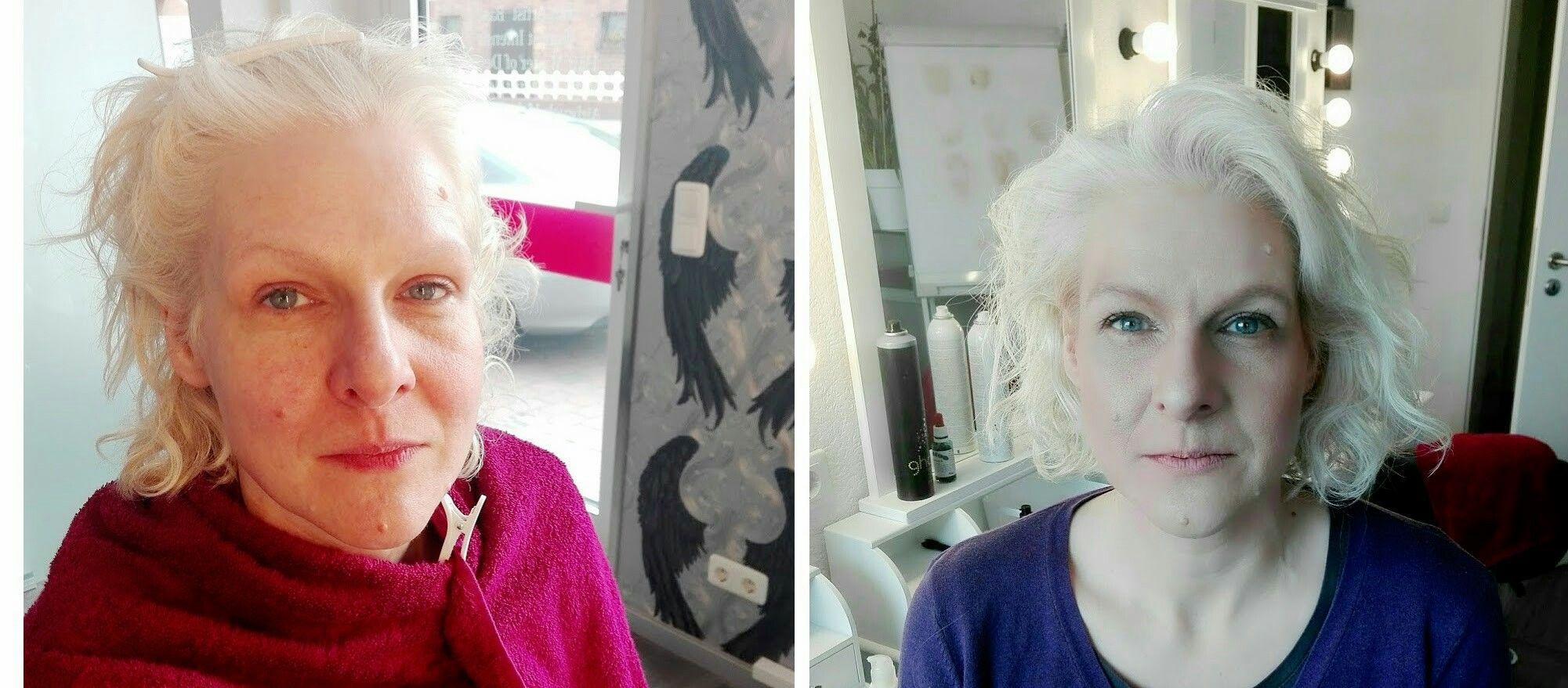 Airbrush Makeup Vorher/Nachher