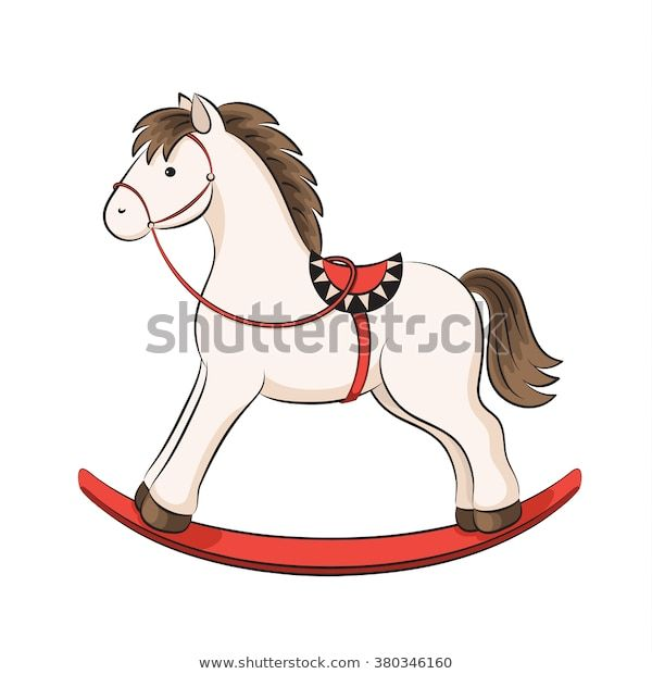 Photo of Vector de stock (libre de regalías) sobre Baby Rocking Horse Saddle Vector Background380346160
