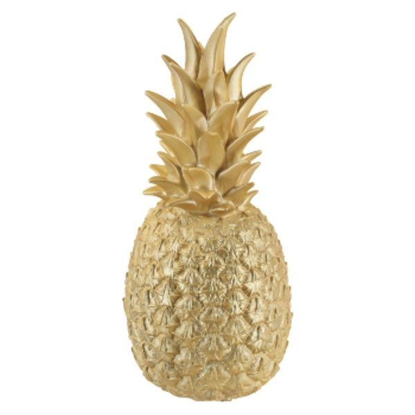 MAIDEN Pineapple Lamp Gold ($99) ❤ liked on Polyvore featuring home and lighting