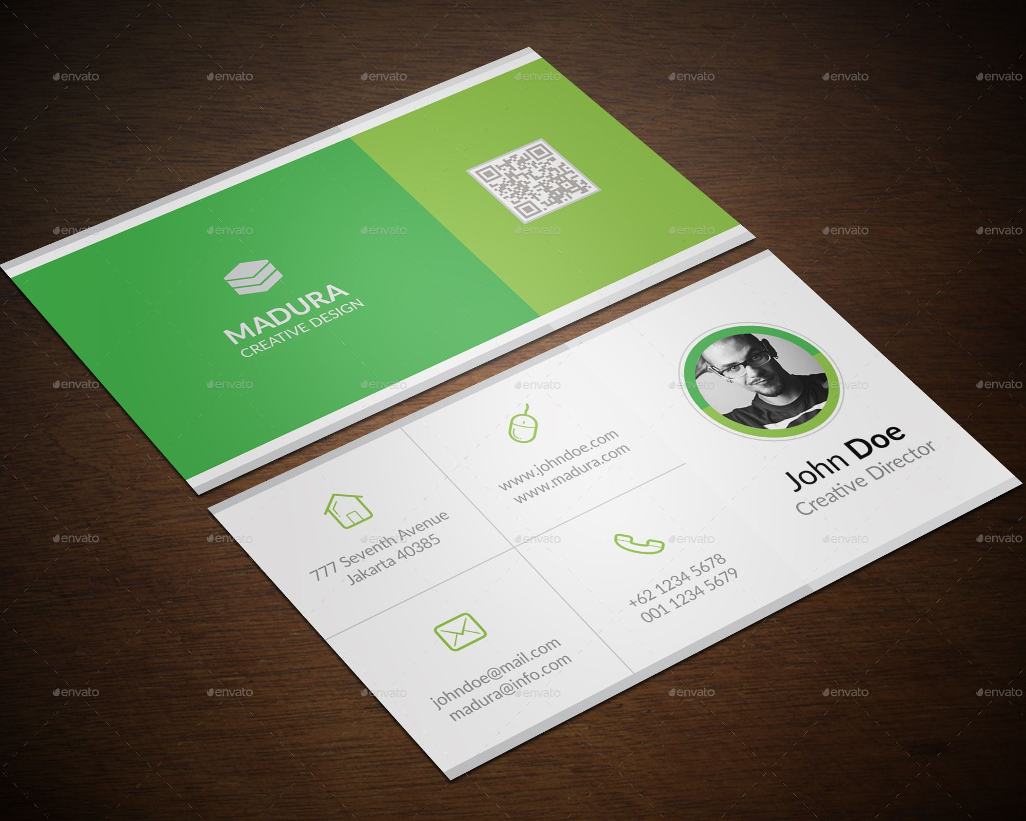 Business Card Bundle in 4  Minimalist business cards