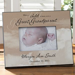 a great grandparent is born picture frame
