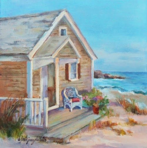 Pictures of seaside cottages to draw or paint beach for Beach house drawing