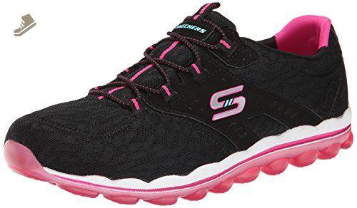 Skechers Sport Women's Skech Air Lite Fashion Sneaker, Black