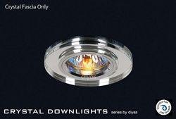 Diyas Lighting - IL30806CH - Crystal Downlight Shallow Round Rim Only Clear