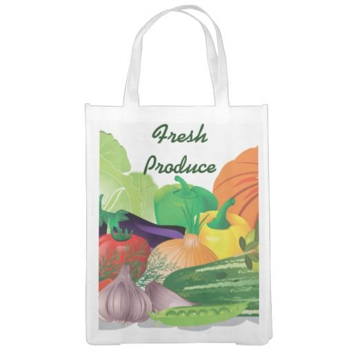 Fresh Produce Design Reusable Tote Market Totes