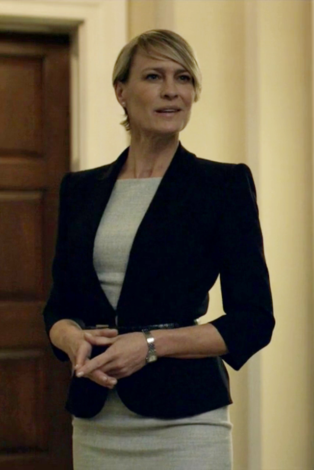 Tailored & polished. (Robin Wright as Claire Underwood in House of Cards)