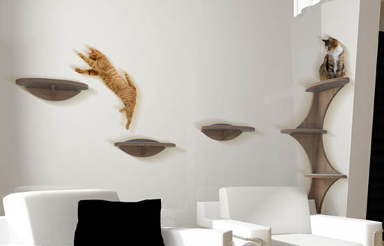 floating shelves for cats various options for diy cat stuff rh pinterest com floating wall shelves for cats how to make floating shelves for cats