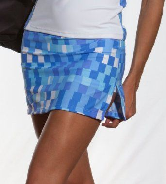 Checkered Flag: Drop Shot Tennis Skirt: Blue Check Checkered Flag. $29.40