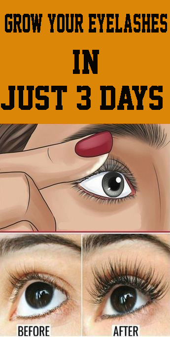 GROW YOUR EYELASHES IN JUST 3 DAYS