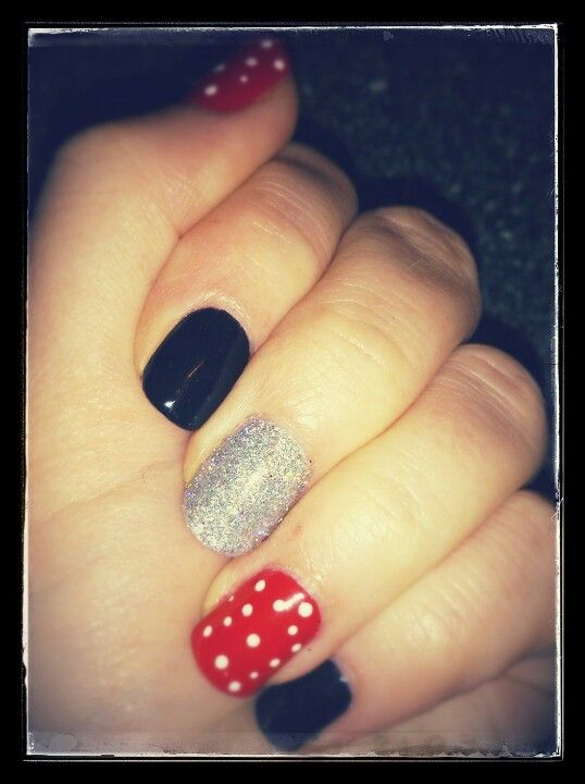 Shellac Minnie Mouse inspired... Life\'s too short for just a french ...