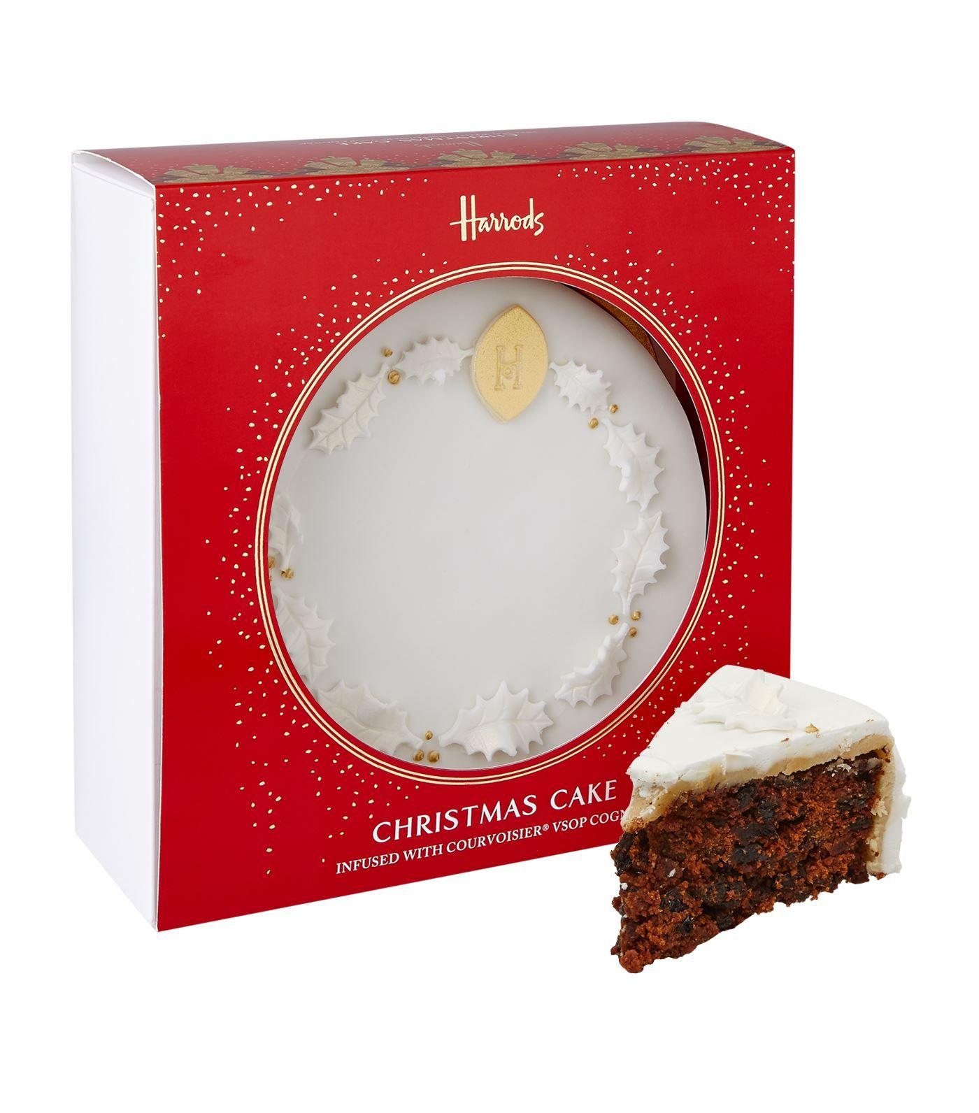 Harrods Christmas Cake with Courvoisier V.S.O.P. Cognac (1.23kg ...
