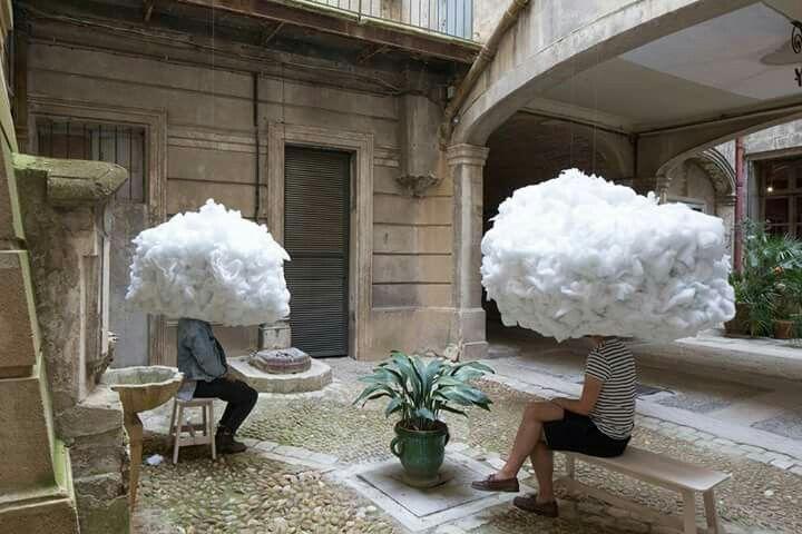"""Head in the Clouds"".2016 Michaël Martins Afonso&Caroline Escaffre-Faure The Festival des Arcitectures Vives-Montpellier, France"