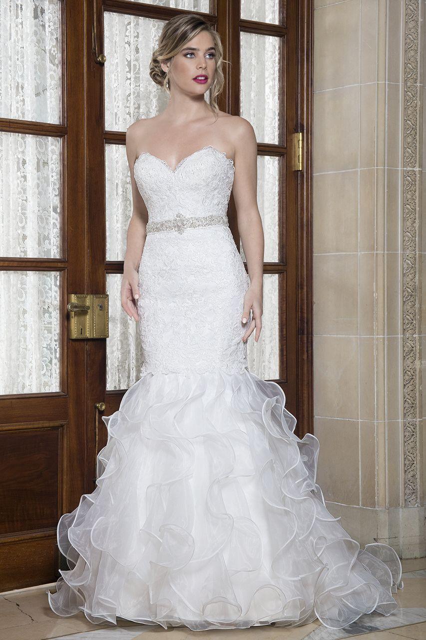 Wedding Gown Gallery Ruffle Wedding Dress Bridal Dresses Strapless Wedding Dress Mermaid [ 1280 x 853 Pixel ]