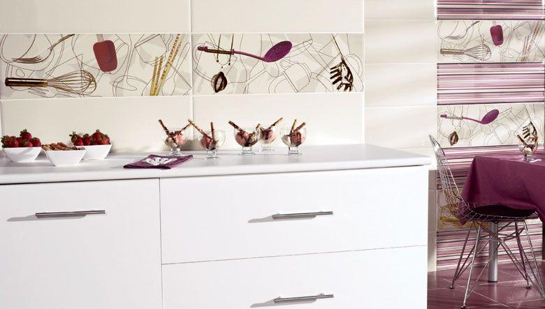 Decorate Your Kitchen Walls With These Original Tiles With Cooking Utensils Ceramicas Para Cocinas Modernas Azulejos Espacios De Vida