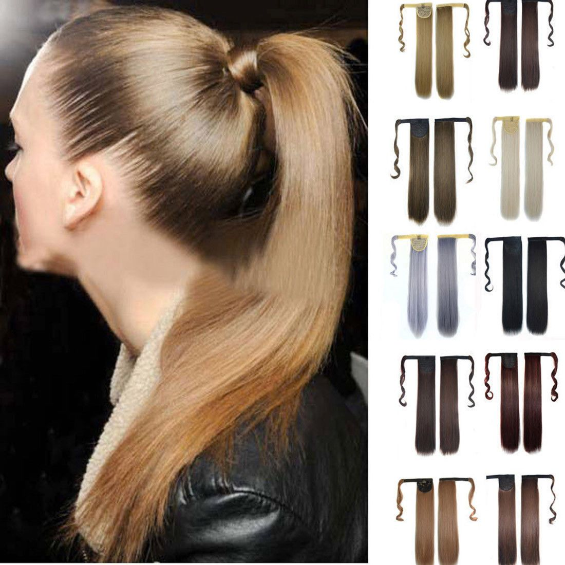 Hair Extensions Ebay Health Beauty Straight Ponytail Human