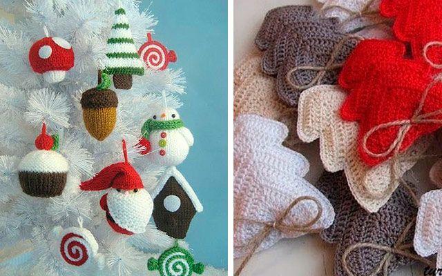 navidad diy adornos para el rbol en fieltro y crochet