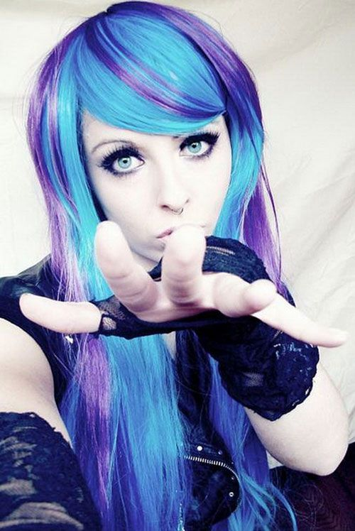 Funky Emo Hairstyles For Long Hair And Bangs Photos
