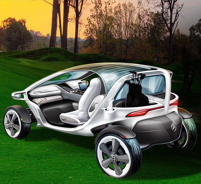 The Mercedes Vision Golf Cart Has Both, A Good Design And